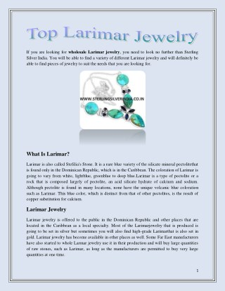 Top Larimar Jewelry