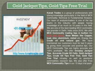 Gold Jackpot Tips, Gold Tips Free Trial