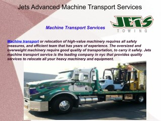 Jets Advanced Machine Transport Services