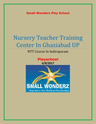 Pre nursery school in Indirapuram ghaziabad UP