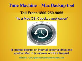Quick Support for mac time machine backup