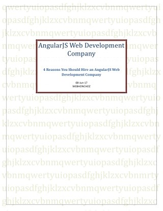 4 Reasons You Should Hire an AngularJS Web Development Company