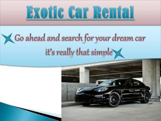 Exotic Car Rental Miami Fl