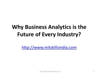 Why Business Analytics is the Future of Every Industry?