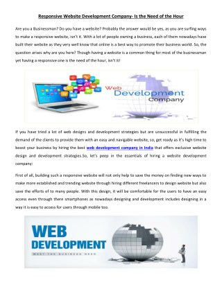 Checkout the Website Development Company