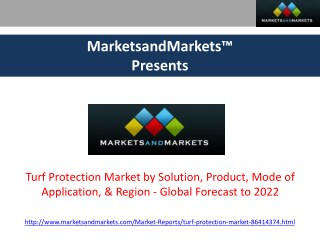 Turf Protection Market - Global Forecast to 2022