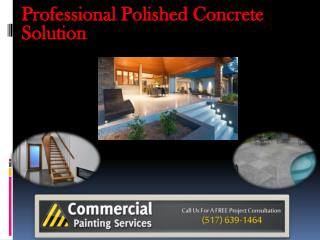 Professional Polished Concrete Solution