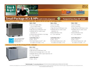Small Package ACs & HPs (all R-410A refrigerant)
