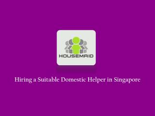 Domestic Helper in Singapore