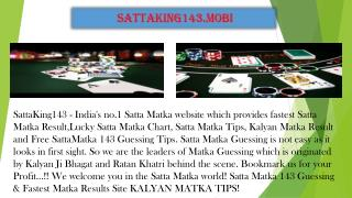 Free Gaming Site To Play Online Satta Matka | SattaKing143