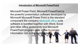Introduction of Microsoft PowerPoint
