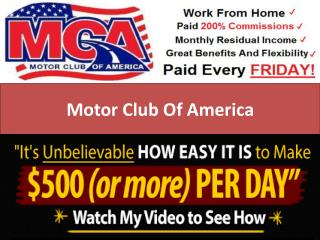(MCA)Motor Club of America: Make Money Online Business