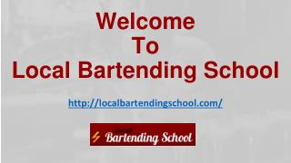 In Home Bartending Course | Bartending School
