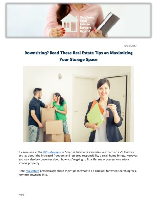 Downsizing? Read These Real Estate Tips on Maximizing Your Storage Space