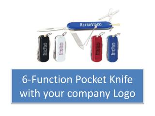 6-Function Pocket Knife with your company Logo