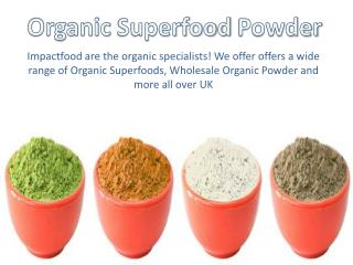 Organic Superfoods Powder in uk