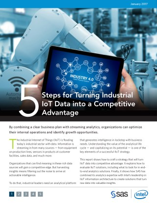 5 Steps for Turning Industrial IoT Data Into Competitive Advantage