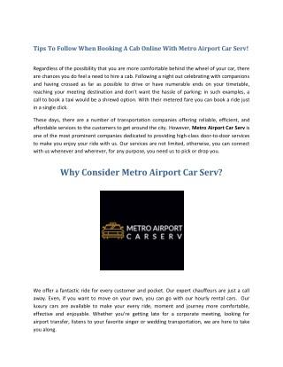 Booking A Cab Online Ann Arbor