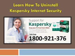 How to Uninstall Kaspersky Internet Security