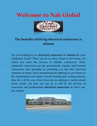 Commercial Plumbing Services and Building Maintenance Repairs By www.nakglobal.co