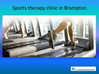 Sports therapy clinic in Brampton