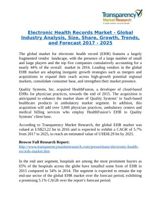 Electronic Health Record Solutions Market Research Report by Installation, Application and Forecast