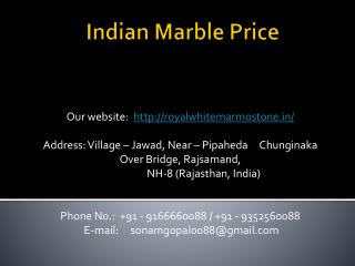Indian Marble Price