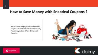 Largest Online Marketplace - Snapdeal Coupons & Offers