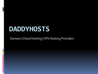 Cheap Cloud Hosting | Start your Hostings Only at $1.5 | Daddyhosts