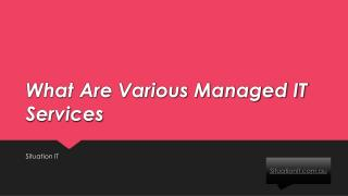 What Are Various Managed IT Services