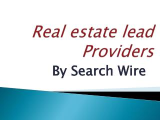 Real Estate Lead Providers By Search Wire