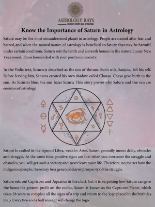 PPT - Know the Importance of Saturn in Astrology PowerPoint