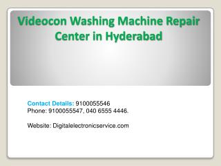 Videocon Washing Machine Repair Center in Hyderabad