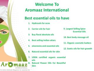 Worlds top Essential oils you must have