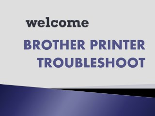 Brother Printer Troubleshoot
