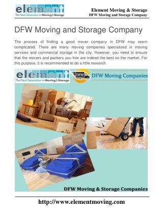 DFW Moving and Storage Company
