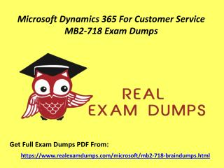 Download Valid Microsoft MB2-718 Exam Questions - MB2-718 Exam Dumps PDF