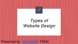 Types of Website Designing
