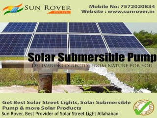 Sun Rover, Best Provider of Solar Street Light Allahabad