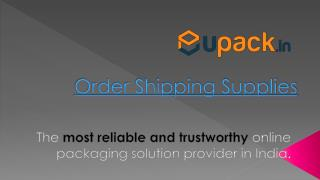 Order Shipping Supplies