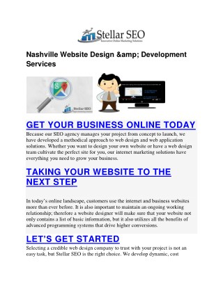 Nashville Website Design & Development Services