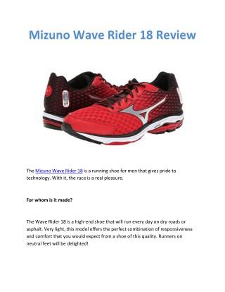 mizuno rider 18 review