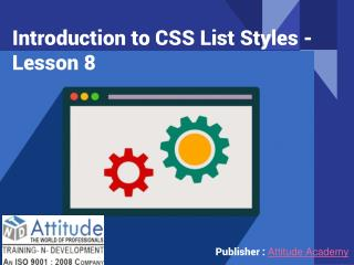 Introduction to CSS List Styles - Lesson 8