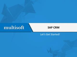 SAP CRM Functional Training