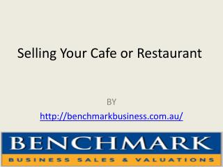 Selling Your Cafe or Restaurant