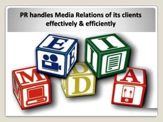 PR professionals have strong media relations for best media coverage by Best PR Agency