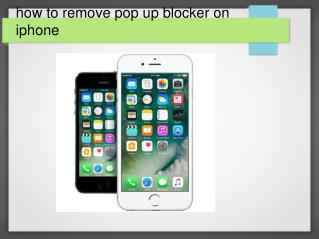 How to remove pop up blocker on iphone