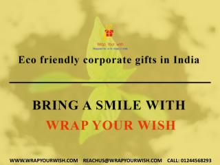 Online Eco friendly corporate gifts in India for clients & employees in Delhi ncr