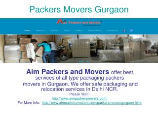 Packers Movers Gurgaon