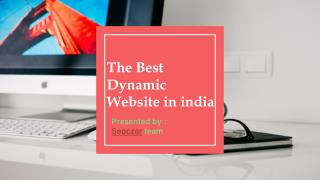 The best dynamic website in india